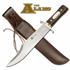 Alamo Bowie Knife with Leather Sheath