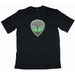 Alien Head Light Up LED Shirt