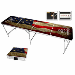American Flag Vintage Beer Pong Table