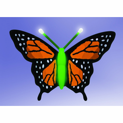 Animotion ElectroLuminescent  Magical Butterfly - Monarch