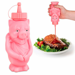 BBQ Pig Condiment Bottle