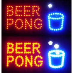 Beer Pong Led Signs