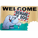 Beware of Dog Door Mat