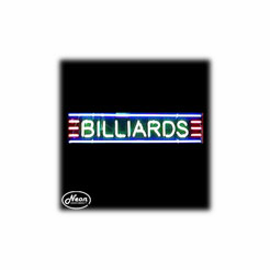 Billiards Neon Sculpture Light