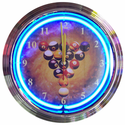 Billiards Spaceballs Neon Clock