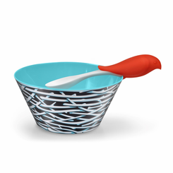 Bird Feed Bowl and Spoon Set