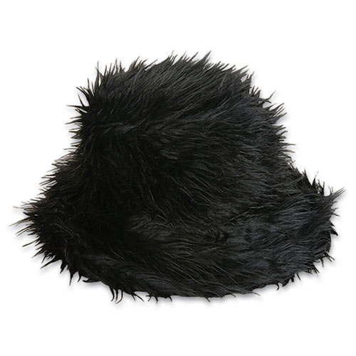 Black Furry Bucket Hat - Click to enlarge