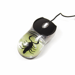 Black Scorpion Glow In The Dark Computer Mouse