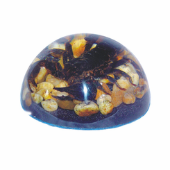 Black Scorpion Stone Background Desk Decoration