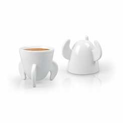 Blast Off Rocket Ship Espresso Cups