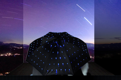 Blue LED Twinkle Umbrella - Click to enlarge