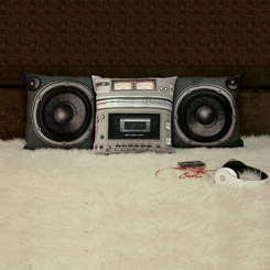 Boombox and Speaker Pillow Set