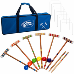 Bud Light 24 Piece 6 Player Croquet Set