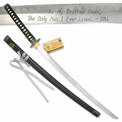 Budds Replica Sword with Hang Tag Kill Bill
