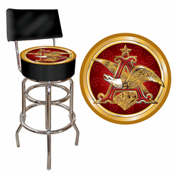 Budweiser A and Eagle Padded Bar Stool with Back