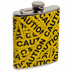 Caution Tape Drinking Flask