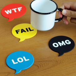 Chat Acronym Coasters