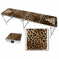 Cheetah Beer Pong Table
