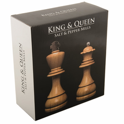 Chess King & Queen Salt & Pepper Mills