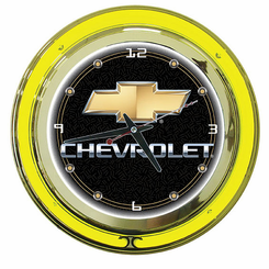 Chevy 14 Inch Neon Clock