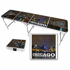 Chicago Skyline Beer Pong Table