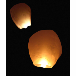 Chinese Glow Flying Lantern - Set of 10