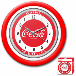 Coca-Cola Clock  White Neon 1950s