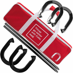 Coca-Cola Horseshoe Set with Carry Case