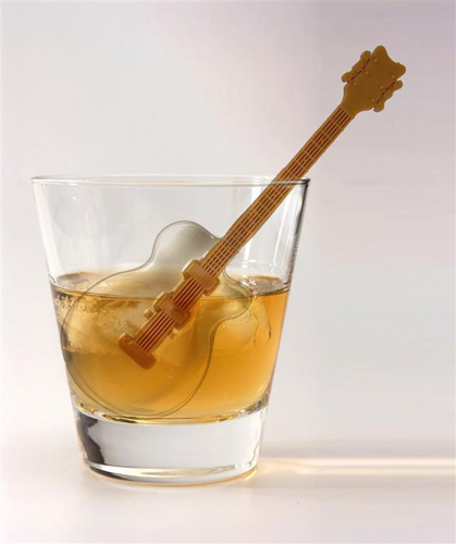 Cool Jazz Guitar Ice Cube Tray Mold - Click to enlarge