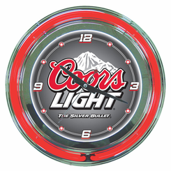 Coors Light Neon Clock