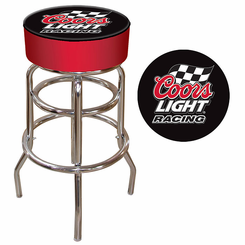 Coors Light Racing Logo Padded Bar Stool