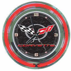 Corvette C5 Neon Clock Black