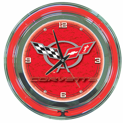 Corvette C5 Neon Clock Red
