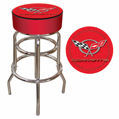 Corvette C5 Padded Bar Stool - Red