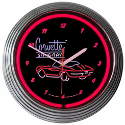 Corvette Sr Neon Clock