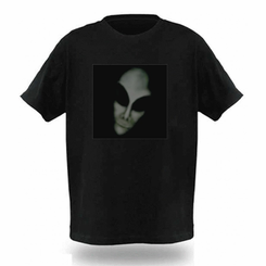 Creepy Alien Light Up LED Shirt