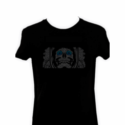 Creepy Skull Light Up LED Shirt