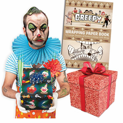 Creepy Wrapping Paper Book