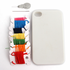 Cross Stitch Customizable Iphone 4 Case