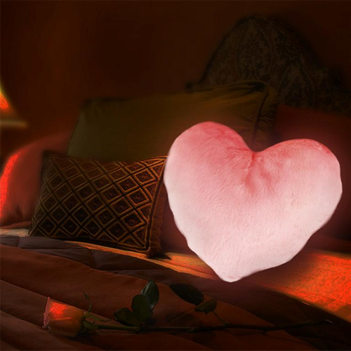 Cupids Glowing Red Heart Pillow - Click to enlarge