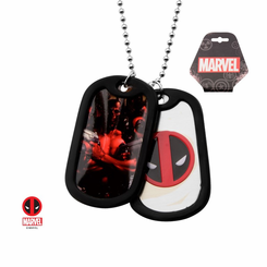 Deadpool Dogtag Pendant Necklace with 24 inch Chain