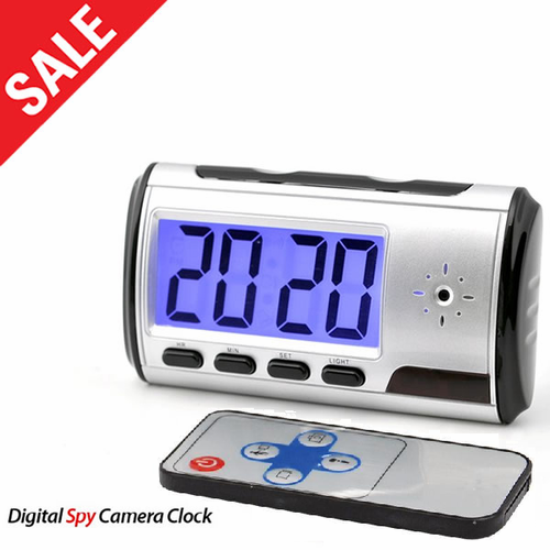 Desktop Spy Clock Hidden Camera - Click to enlarge