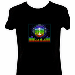 Disco Headphones Light Up LED Shirt