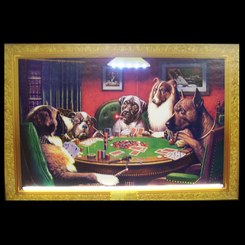 Dogs Playing Poker Neon Picture