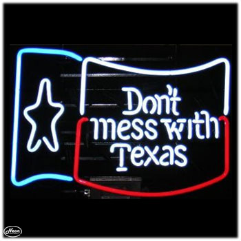 Dont Mess with Texas Flag Neon Sign - Click to enlarge