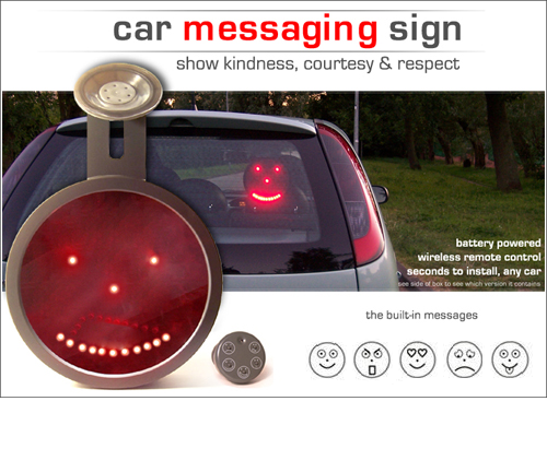 Drivemocion Car LED Sign - Click to enlarge