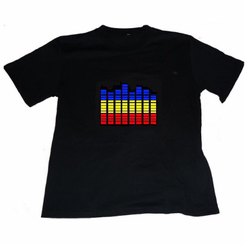 Equalizer Spectrum Light Up LED Shirt