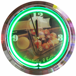 Essentially Eight Ball Neon Clock