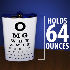 Eye Chart XXL Drinking Flask