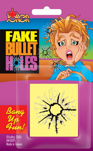 Fake Bullet Hole Stickers - Click to enlarge